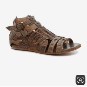 BedStu Claire leather sandals SMOKE color